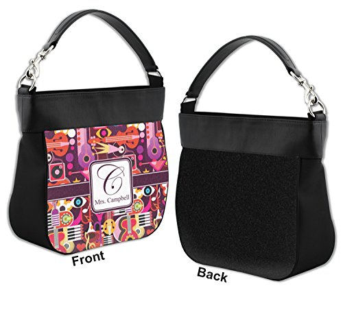 Hobo Front Purse w Music Leather Abstract Trim Personalized Genuine qWZ5zB5xw