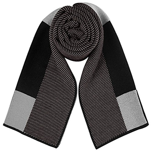 HUAYI Men's Knitting Wool Knitted Scarves Classic Checks Business Scarf from HUAYI