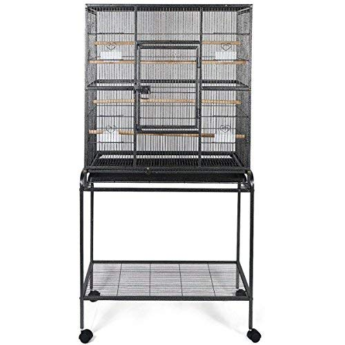 Giantex Bird Parrot Cage Chinchilla Cockatiel Conure Large W/Stand Overall 32x18x64 PS5339New