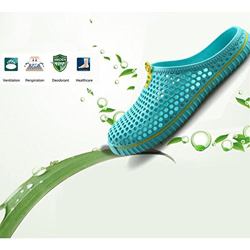 DULEE - Zapatillas de estar por casa para hombre Verde