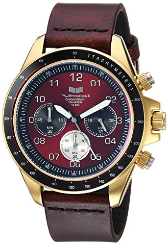 Vestal ZR2 Leather Stainless Steel Japanese-Quartz Watch with Strap, Brown, 20 (Model: ZR243L21.CVBK)