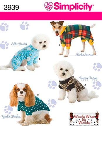 - Simplicity Pajama and Coat Dog Clothing Sewing Pattern, Pet Sizes S-L