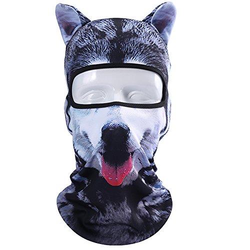 Koolip Cat Balaclava,Dog Balaclava,Halloween Hat,Cute Full Face Hood Mask Animal Ski Mask for Hiking Riding Sports Outddor -