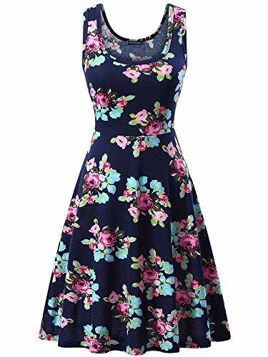 (FENSACE Sundress Floral Midi Easter Dresses for Women)