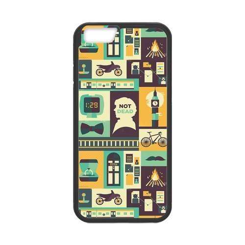 iPhone 6 Protective Case - Sherlock Collage Hardshell Cell Phone Cover Case for New iPhone 6