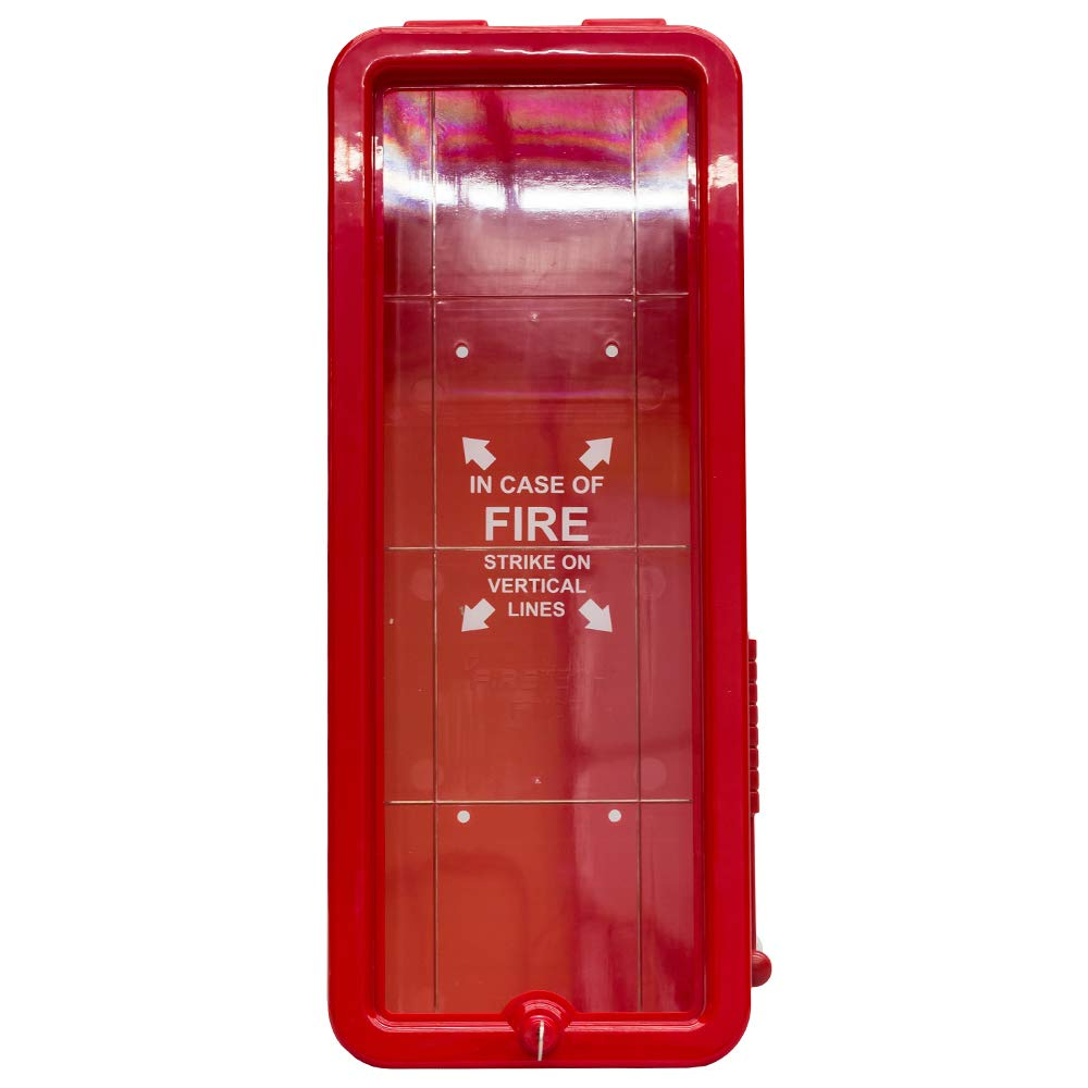 5# Fire Extinguisher Cabinets Indoor/Outdoor - Red - Lot of 6