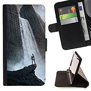 DEVIL CASE - FOR LG G3 - Waterfall Fantasy City - Style PU Leather Case Wallet Flip Stand Flap Closure Cover