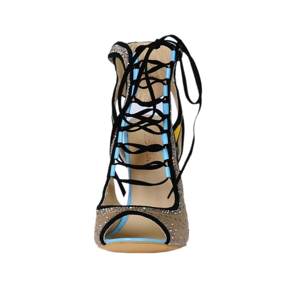 Donna Scarpe Scarpe Scarpe romane, Bocca di pesce Open toe Cravatta anteriore stiletto Stivali fantastici, moda pizzo coloreato superiore 42b9ae