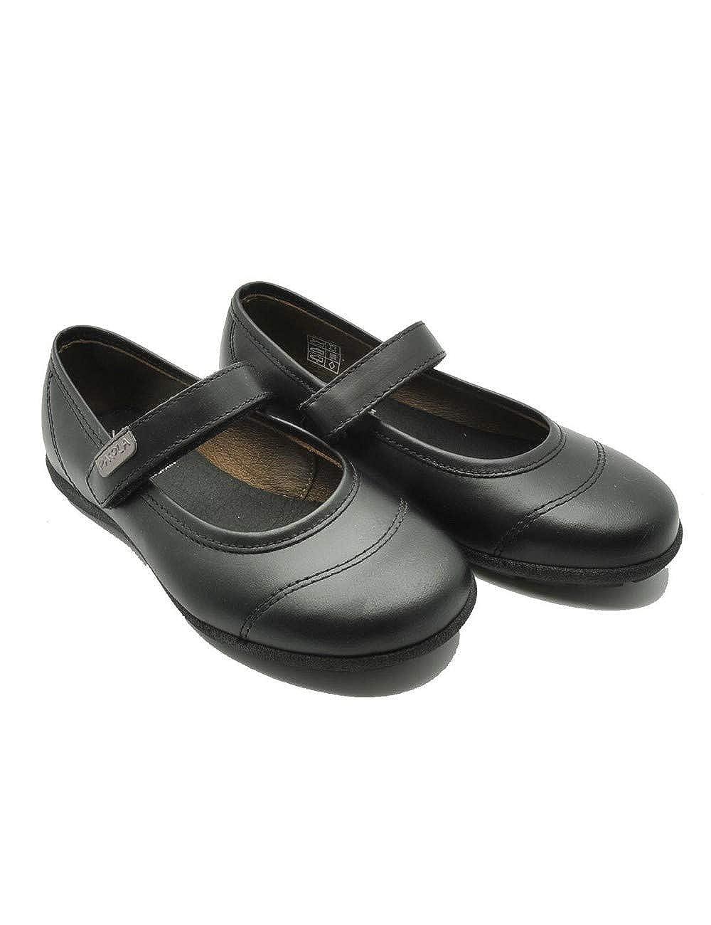 Pablosky 803010 - Zapato escolar en piel con cierre en velcro para niña, color negro.: Amazon.es: Zapatos y complementos