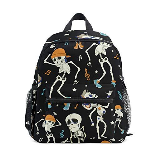 Dancing Skeletons Boy Party Halloween Kid Backpack 12 inch Toddler Bookbag Travel School Bag ()