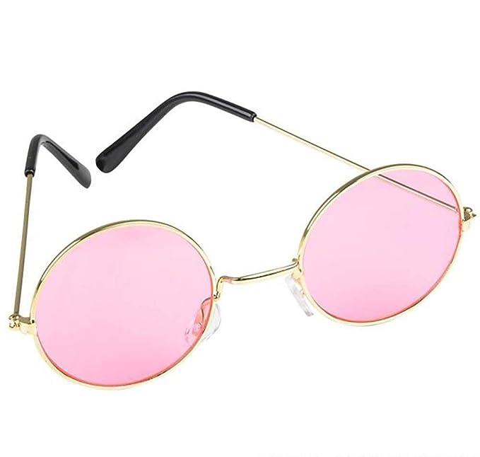 Amazon.com: Gafas de sol redondas con diseño retro hippie ...