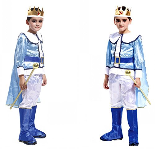 Children's Halloween Costume Sets,Deluxe Halloween Cosplay Costume for Boys, Fancy Dress for Costume Ball (M Size, Prince (Prince Charming Costume For Kids)