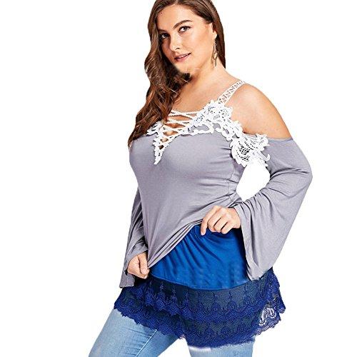 Bleu V dcontracts Chemise en tops jupe robe de vtements base jupe dentelle Jupe shirt Moshow sous dnudes T paules col de de qtRwRzxF