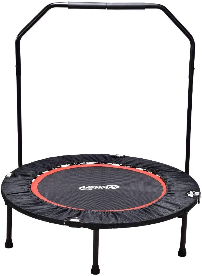 "Newan Exercise Trampoline for Adult - 40"" Fitness Rebounder Trampoline Handle Bar for Indoor Garden Workout Cardio Training"