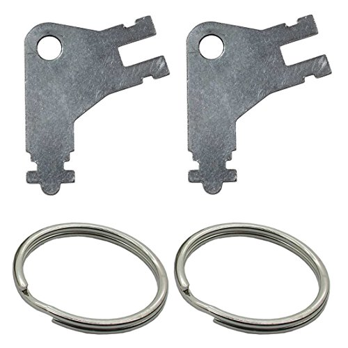 Replacement Automatic Paper Towel Dispenser Keys  Plain Steel  2 Pack