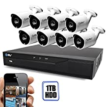 Best Vision Systems 16CH 1TB HDD 1080P DVR Security Surveillance System with (8) 720P CVI Outdoor Bullet Cameras and Remote Surveillance