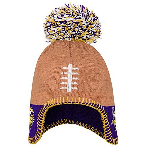 Outerstuff NFL Minnesota Vikings Infant Football Head Knit Hat Regal Purple, Infant One Size