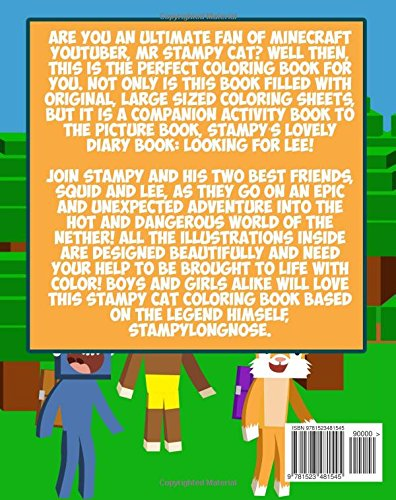 Stampy Cat Coloring Book Unofficial Minecraft Ft Youtubers Stampylongnose IBallisticSquid And Lee Stampys Lovely Diary Companion