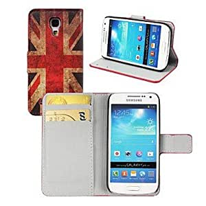 LZX Retro UK Flag Pattern PU Leather Case with Stand and Card Slot for Samsung Galaxy S4 Mini I9190
