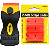25 Plastic Double Edged Razor Blade and Titan Scraper