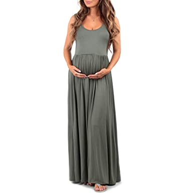 f3ed11139fb2a3 Women's Ruched Sleeveless Maternity Dress in Regular and Plus Sizes - Made  in USA