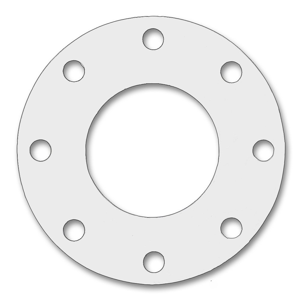 Sterling Seal & Supply, Inc.  CFF7530.2000.062.300X1 7530 Full Face Gasket, 20'' ID,  20'' Pipe Size,  1/16'' Thick, Pressure Class 300#, PTFE/Virgin Teflon