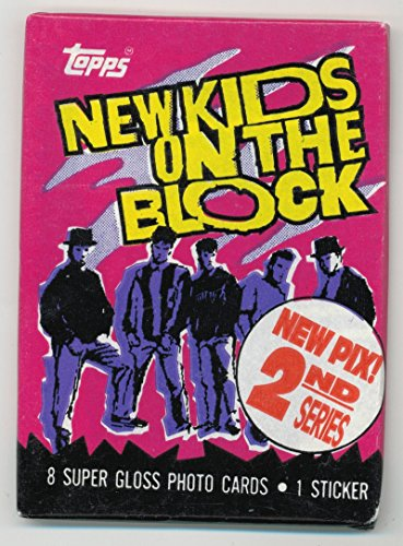 1990 New Kids on the Block 2nd Series Sealed Trading Card Pack