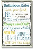 """The Stupell Home Decor Collection """"Bathroom Rules"""" Typography Bathroom Wall Plaque"""