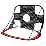 Keebgyy Kids Folding Football Nets, Football Goal Training Portable Goals Post for Indoor Outdoor Play, Perfect Improving Passing Shooting Folding Children's Goals, Mini, Mobile, with Travel Bag