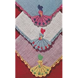Vintage Crochet Pattern to make - Crinoline Lady Handkerchiefs. NOT a finished item. This is a pattern and/or instructions to make the item only.