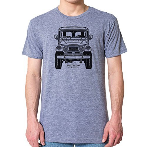 GarageProject101 Toyota FJ40 Land Cruiser Front T-Shirt L Athletic Gray