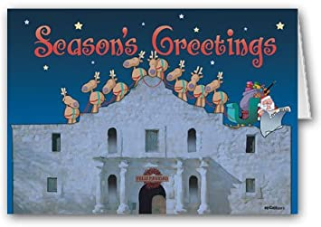 Texas Christmas Cards.The Alamo San Antonio Texas Christmas Card 18 Holiday Cards Envelopes