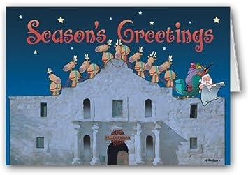 the alamo san antonio texas christmas card 18 holiday cards envelopes - Texas Christmas Cards