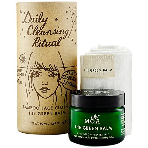 MOA Green Balm Daily Cleansing Ritual 50ml and cloth Box Moa The Green Balm MOARITUAL