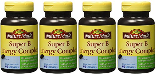 Nature Made Super B Complex NMOno Full Strength - 60 Count Bottle (4 Pack) by Nature Made