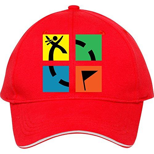 Cool Red New_geocaching_01 Cotton Snapback Cap Hat Male/female Baseball Cap Edmundstevens