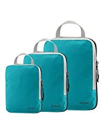 Set of 3 Gonex Packing Cubes, Clothing Compression Cube Extensible Storage Bags Organizers(Blue)