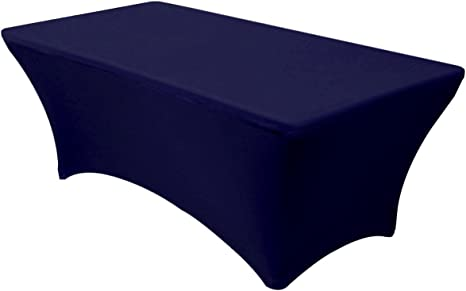 Banquet Tables Pro Navy Blue 6 ft. Rectangular Fitted Stretch Spandex Tablecloth …