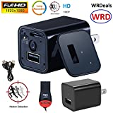 1080P Hidden Camera USB [newest model] WRD Wall Charger Spy Camera Adapter Motion Detection 32gb support [not included]