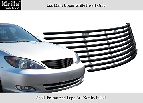 APS Compatible with 2002-2005 Toyota Camry Stainless Steel Black Billet Grille S18-J08358T