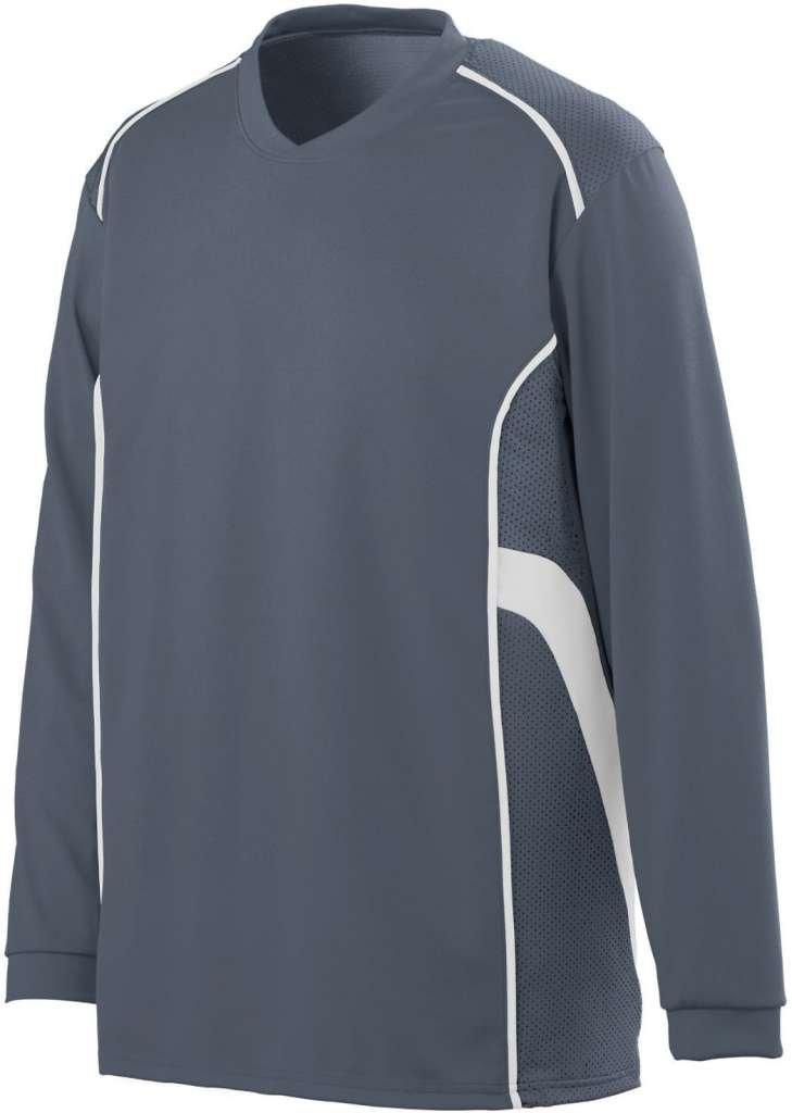 AugustaメンズWinning Streak Long Sleeve Jersey B00IUIYERY XXX-Large グレー/ホワイト グレー/ホワイト XXX-Large