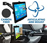Mount-It! MI-7311 Car Back Seat Headrest Tablet Mount Carbon Fiber Fits Apple iPad, Samsung Galaxy Tab, Microsoft Surface, and Other Tablets with 7 to 11 Inch Screen Sizes, 3.3 Lbs Capacity