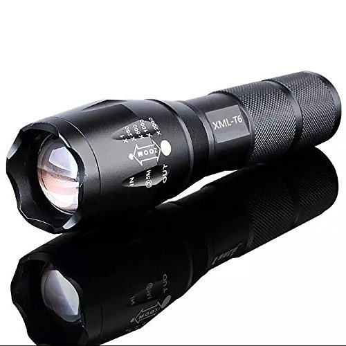 XIAOBUDIAN LED Flashlight Flashlight 8000Lumens CREE XM-T6/L2 Zoomable 5 Modes Aluminum Lanterna LED Torch Flashlights for Camping (Color : CREE XML-T6 6000 LUM)