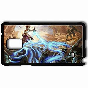 Personalized Samsung Note 4 Cell phone Case/Cover Skin Art Monsters Magic Rocks Black