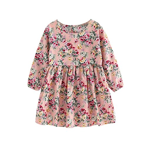 kaifongfu Toddler Dresse,Baby Girls Dress Long Sleeve Pageant Dresses Kids Clothes (140♣♣10-11T, Pink)