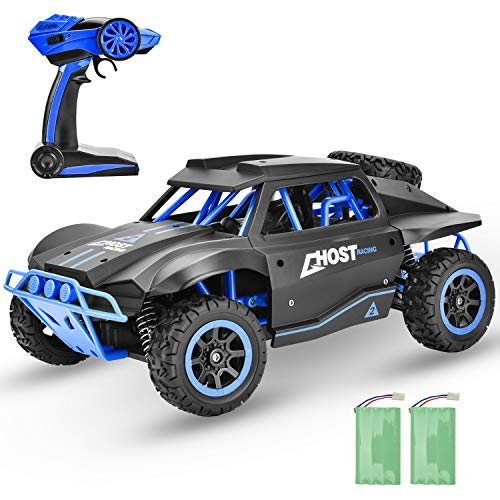 GotechoD Remote Control Car for Boys 4WD Large Size RC Car Off Road 25KM/H High Speed Racing Car, 4×4 RC Truck Monster Vehicle RTR Kids RC Toys Car Gifts for Boys Girls Adults with 2 Batteries Black