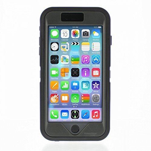 iPhone 6 plus - Glass Tech Ruggedized Case - Black - (Um Aluminum Air Box)