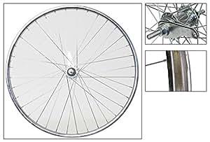 Wheel Master Rear Wheel 26 x 1.75/2.125 36H Bolt On, CB With Trim Kit, Steel, Silver