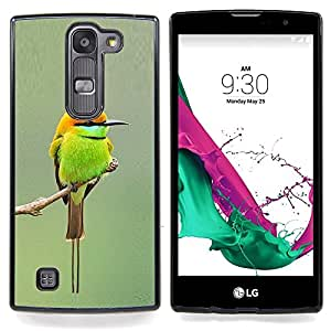 Eason Shop / Premium SLIM PC / Aliminium Casa Carcasa Funda Case Bandera Cover - Rama lindo minúsculo pájaro borrosa - For LG G4c Curve H522Y ( G4 MINI , NOT FOR LG G4 )