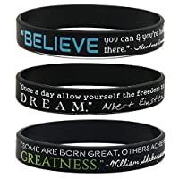 Motivational Quote Wristbands